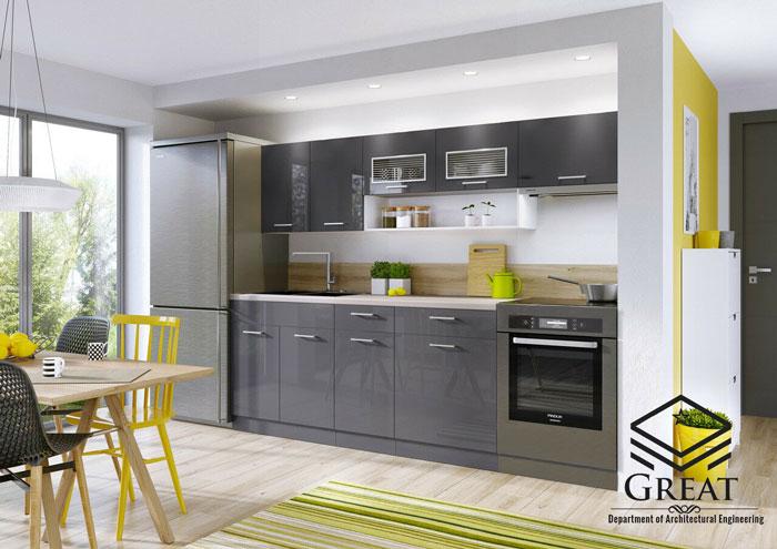 مزایا و معایب کابینت آشپزخانه هایگلاس