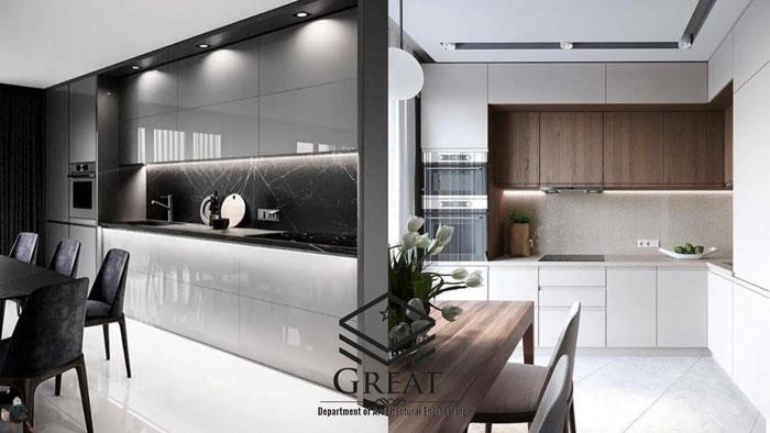 انواع کابینت های آشپزخانه مدرن