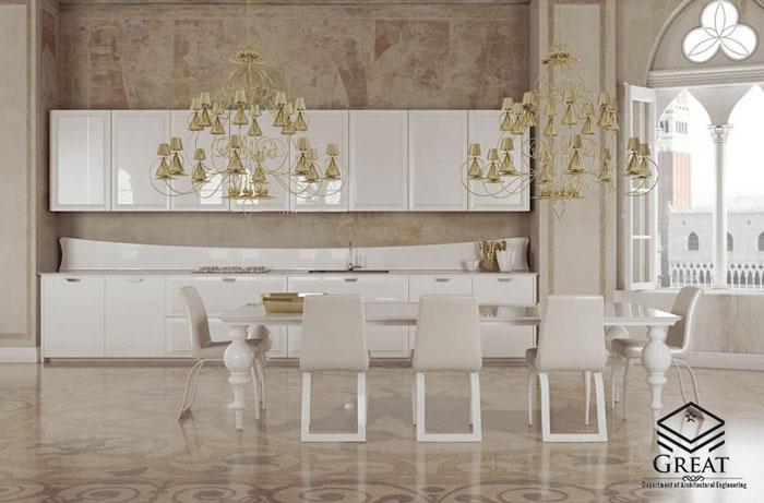های گلاس سفید طلایی - تصویر دو