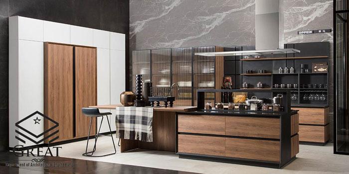 کابینت آشپزخانه دو رنگ یا ترکیبی