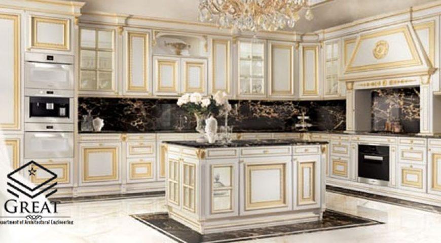 طراحی کابینت آشپزخانه با استفاده از رنگ زرد