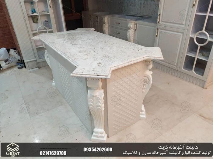 کابینت آشپزخانه ممبران سفید | پاسداران