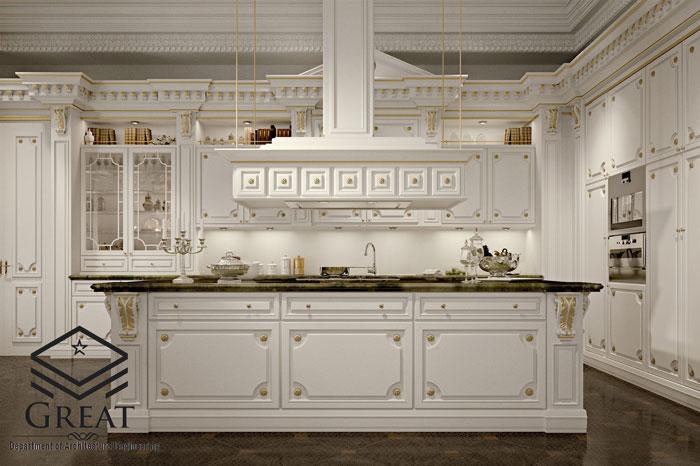 انواع کابینت های آشپزخانه کلاسیک