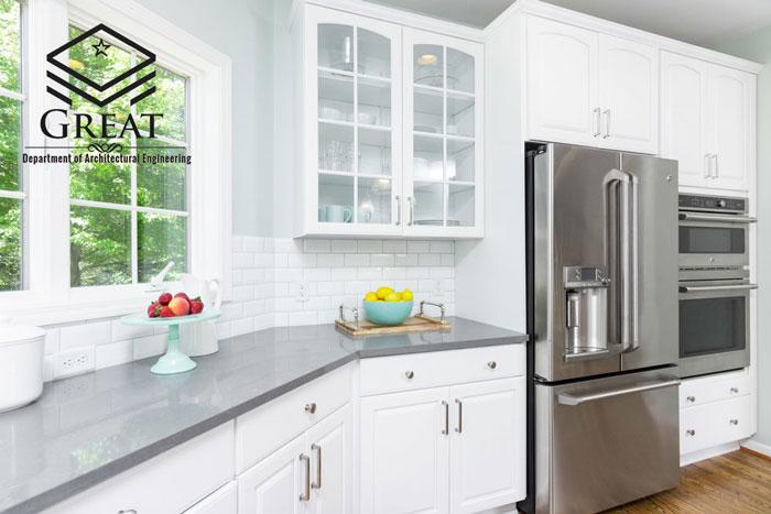 کابینت آشپزخانه درب شیشه ای - تصویر دو