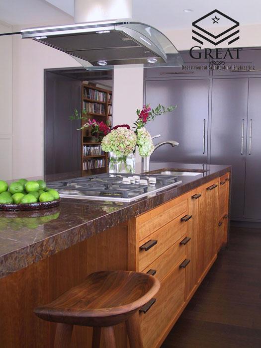 کابینت آشپزخانه روکش چوب تصویر پنج