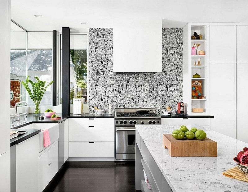 دکوراسیون آشپزخانه رنگ شکلاتی