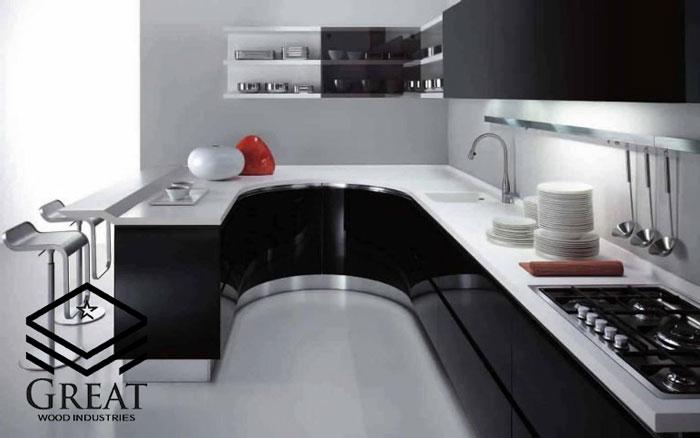 کابینت منحنی در دکوراسیون آشپزخانه - تصویر سه