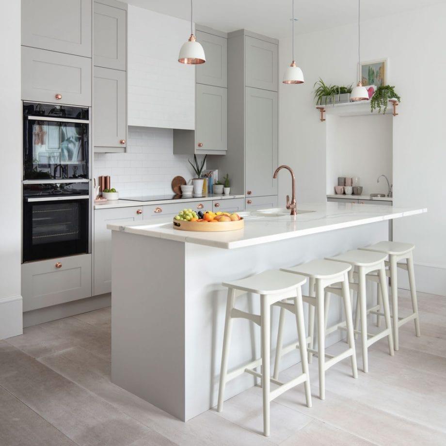دکوراسیون آشپزخانه رنگ خاستری 2