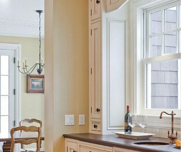 کابینت آشپزخانه خامه ای
