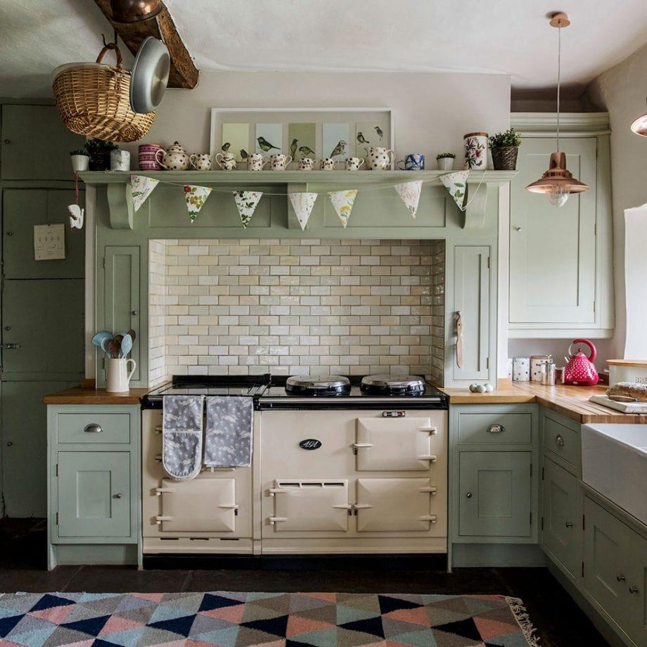 رنگ سبز در آشپزخانه