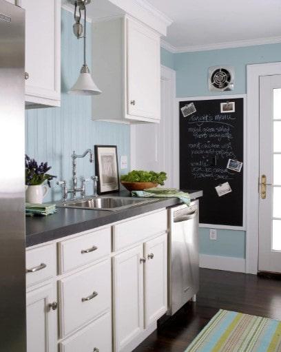 دکوراسیون آشپزخانه رنگ آبی 2