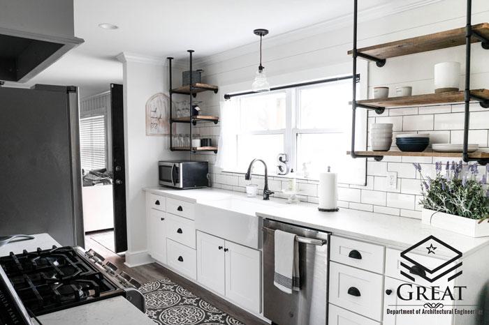 کابینت سفید در طراحی آشپزخانه - تصویر سه