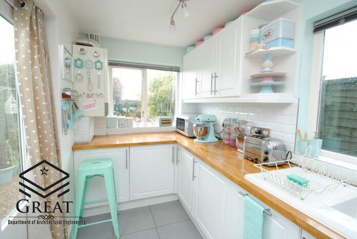 کابینت سفید برای آشپزخانه های کوچک