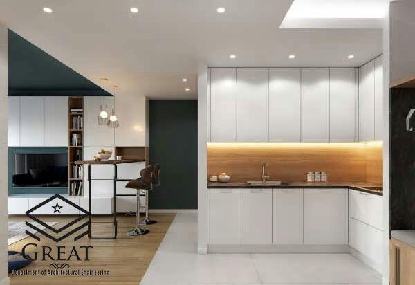 کابینت سفید در طراحی آشپزخانه - تصویر چهار