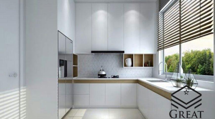 کابینت سفید در طراحی آشپزخانه کوچک
