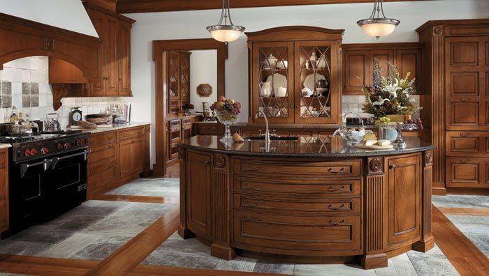 کابینت آشپزخانه چوب طبیعی گردو