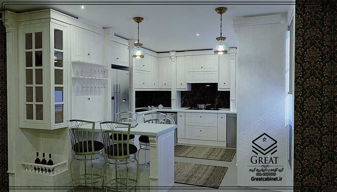 طرح دومکابینت آشپزخانه ممبران : نمای شماره2
