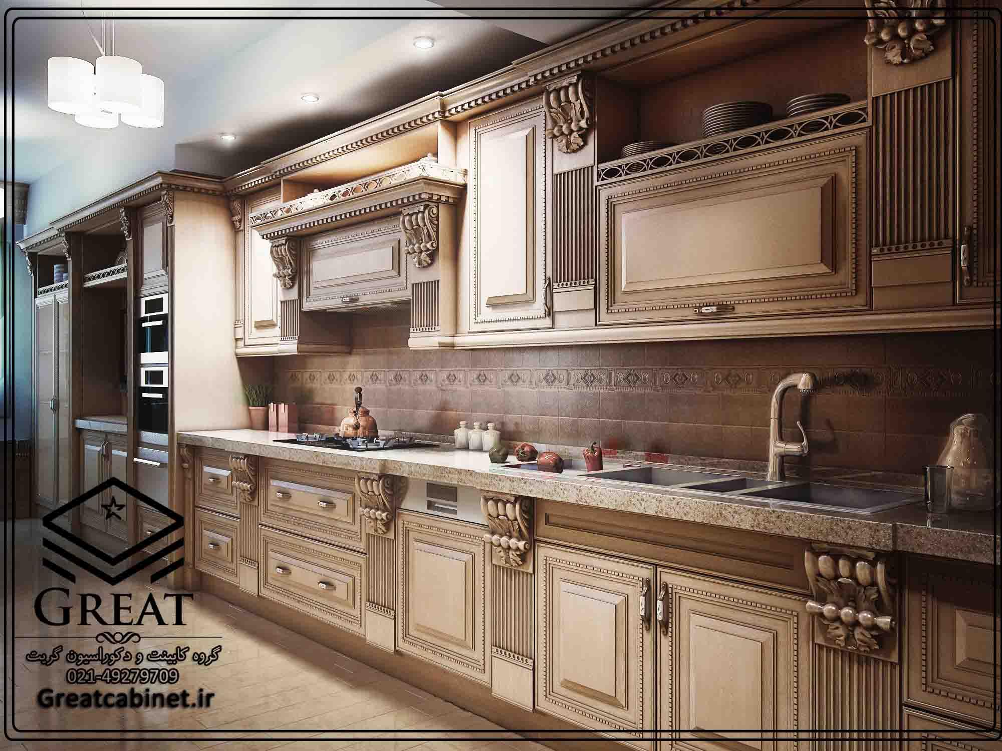 کابینت مدرن کلاسیک چوبی