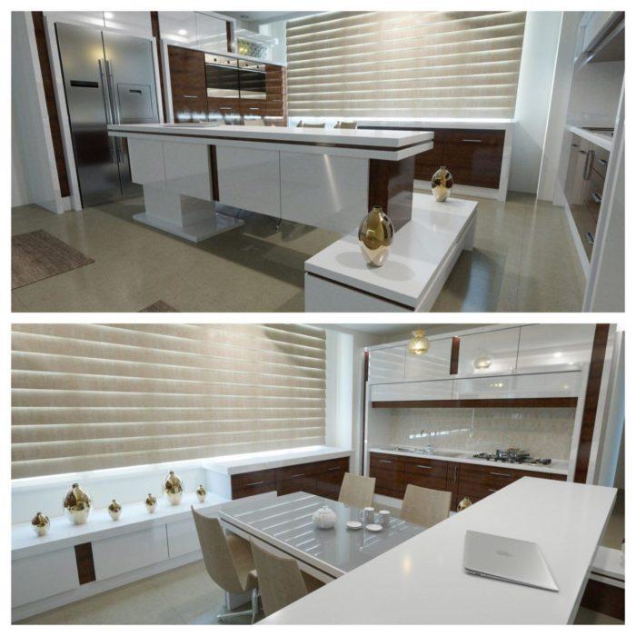 مراقبت ، تمیز کاری و نگهداری کابینت آشپزخانه های گلاس