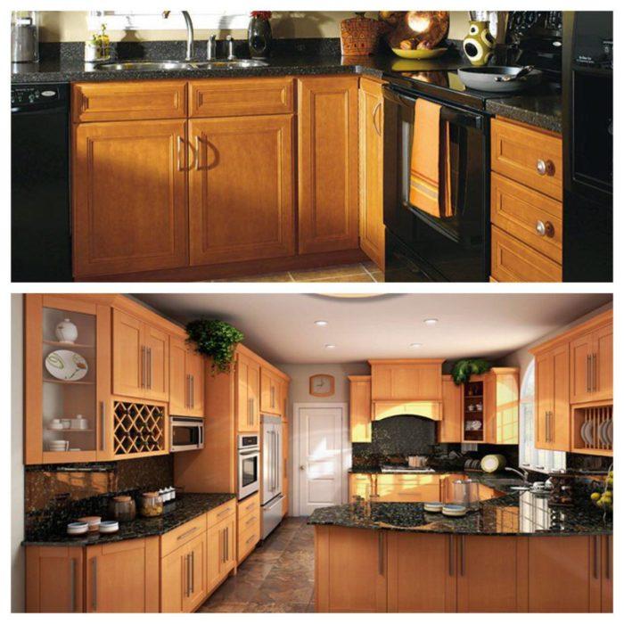 مراقبت ، تمیز کاری و نگهداری کابینت آشپزخانه چوبی افرا