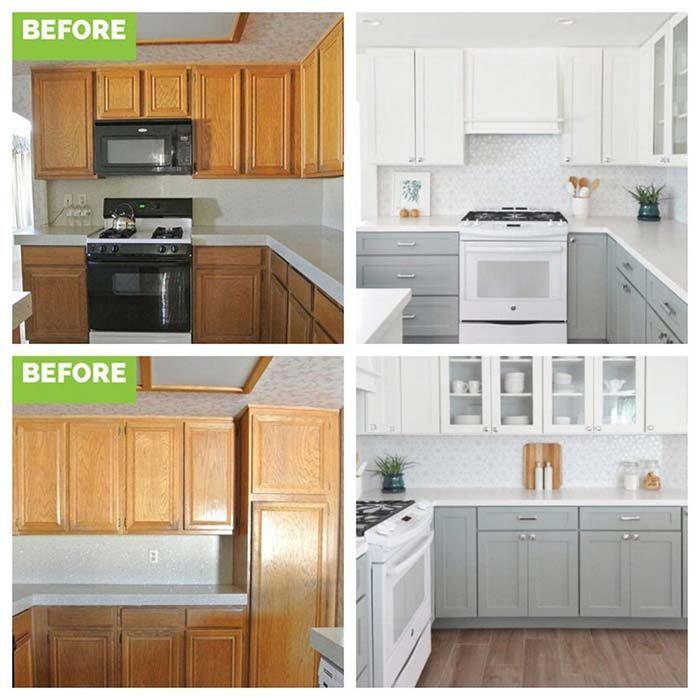 طراحی کابینت آشپزخانه کلاسیک قبل و بعد