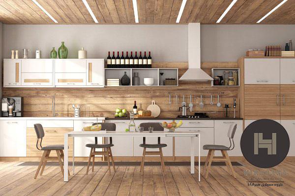 ایده هایی برای کابینت چوبی
