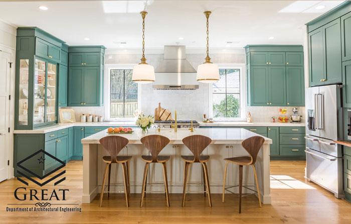 انتخاب رنگ کابینت آشپزخانه در سال 2020