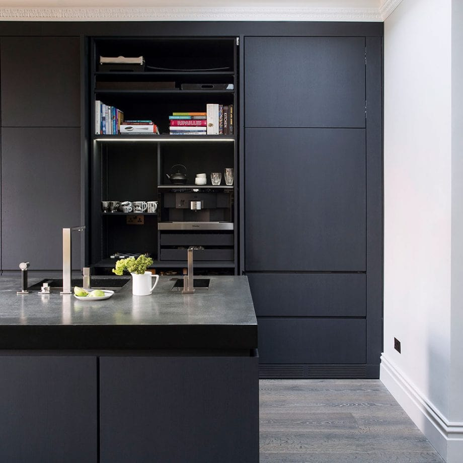 دکوراسیون آشپزخانه رنگ خاستری 3