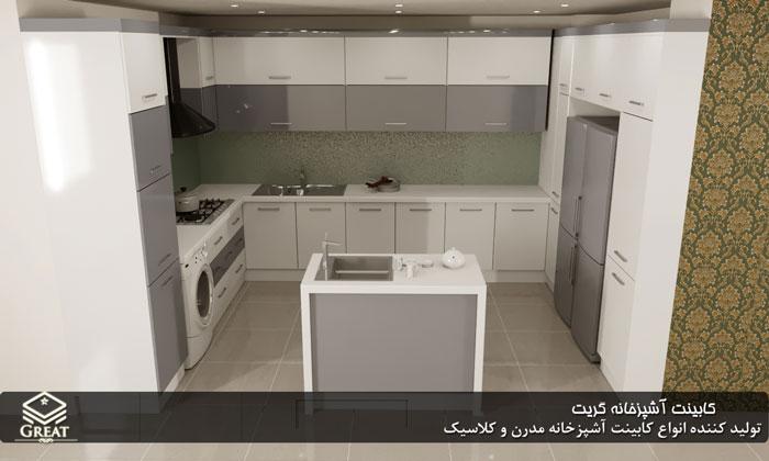 سفارش کابینت هایگلاس | آقای فرحزاد