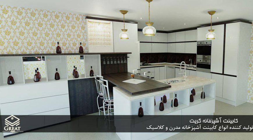 خدمات کابینت آشپزخانه های گلاس | آقای باقری