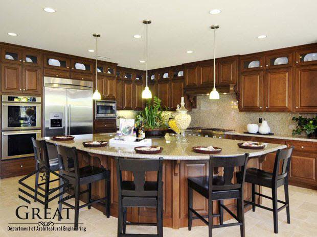 آشپزخانه جزیره ای - تصویر دو