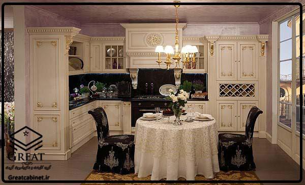 کابینت ممبران سفید و طلایی تجلی شکوه وعظمت تصویر پنجم