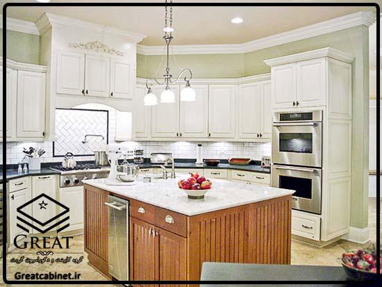 کابینت آشپزخانه دو رنگ یا ترکیبی تصویر سوم