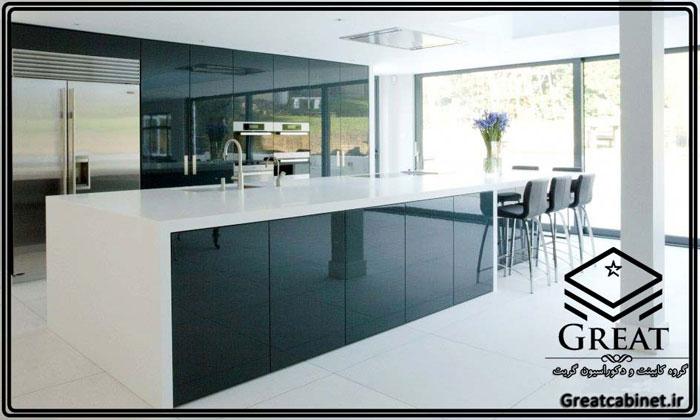 کابینت آشپزخانه دو رنگ یا ترکیبی تصویر پنجم