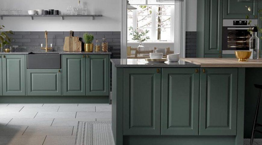 رنگ سبز در آشپزخانه ۱