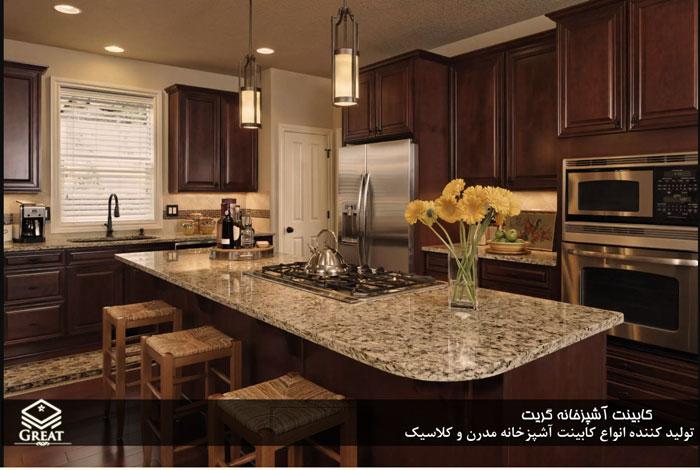 انواع صفحه در کابینت آشپزخانه تصویر هفتم