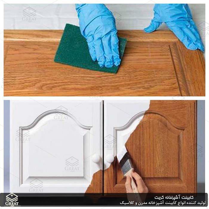 نحوه رنگ آمیزی کابینت آشپزخانه تصویر اول