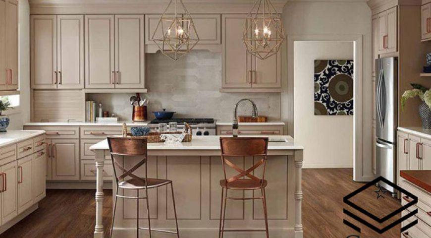 کابینت آشپزخانه رنگ بژ