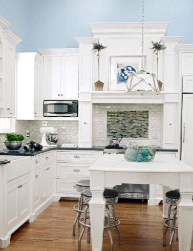 دکوراسیون آشپزخانه رنگ آبی 1