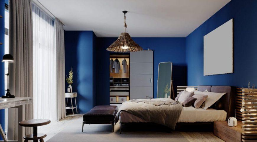تخت کم جا در دکوراسیون آبی