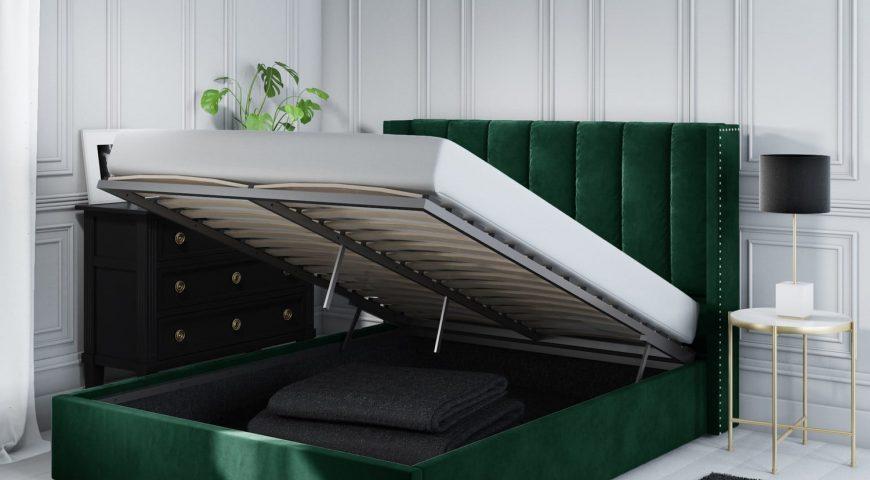 تخت کم جا در دکوراسیون سبز