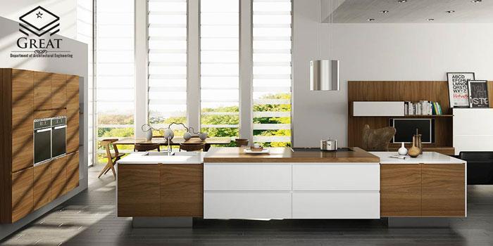 چوب در آشپزخانه های مدرن - تصویر دو