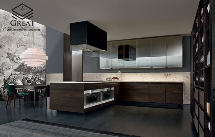 چوب در آشپزخانه های مدرن - تصویر چهار