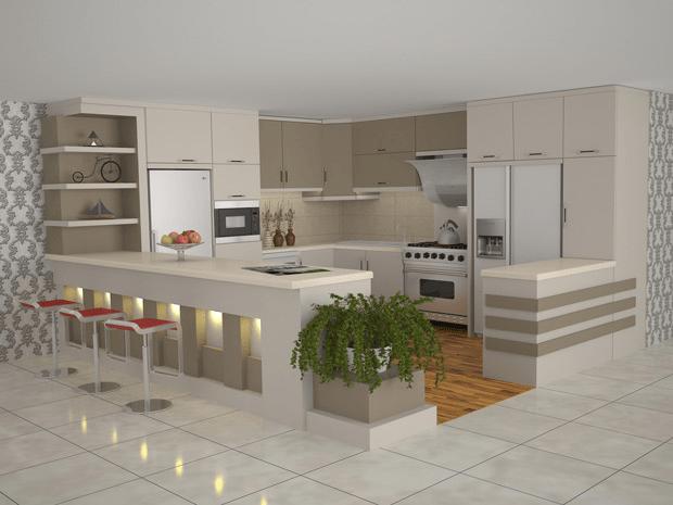 آشپزخانه با نمای باز