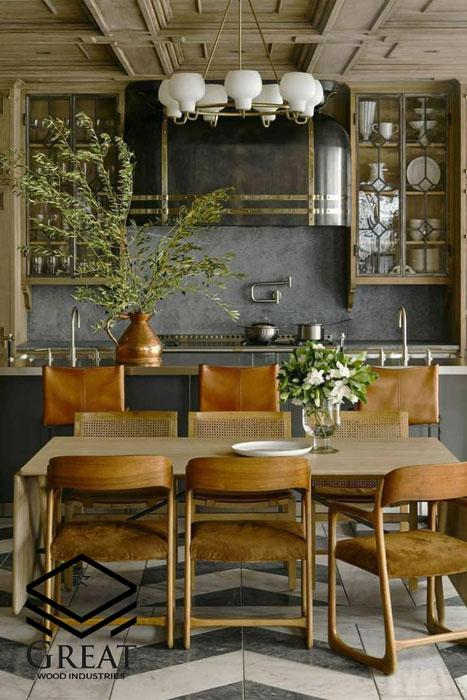 گیاهان را در طراحی آشپزخانه بکار ببرید