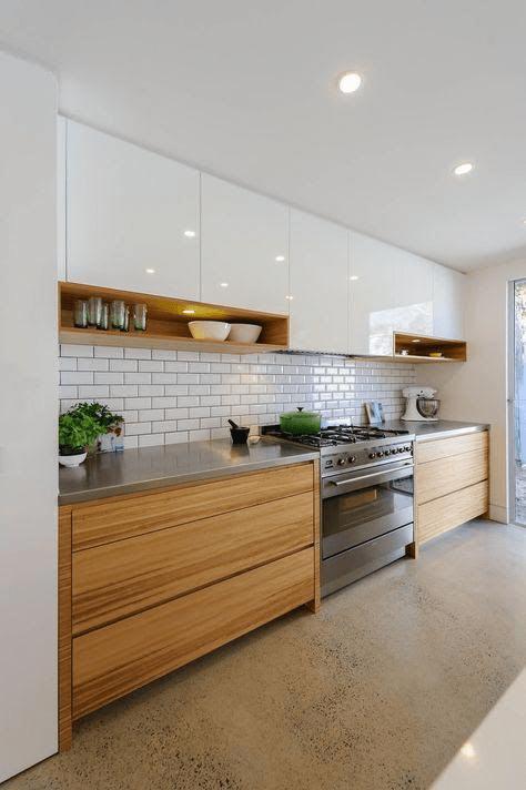 کابینت های براق در آشپزخانه های مدرن