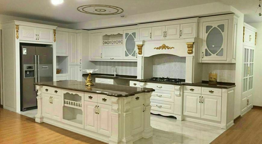 کابینت آشپزخانه با روکش چوب