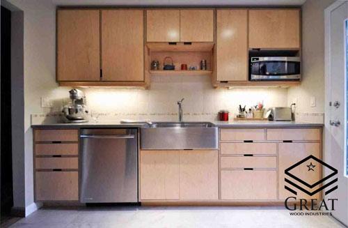 کابینت آشپزخانه از جنس پلی وود