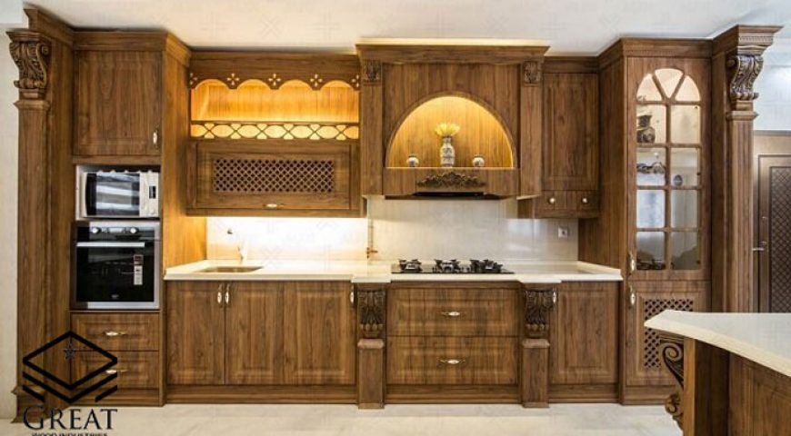 طراحی کابینت کلاسیک آشپزخانه (قسمت اول)