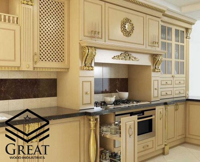 کابینت آشپزخانه کلاسیک رومی